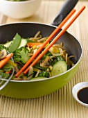 Six vegetable wok
