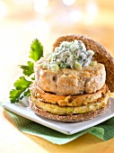 Country-style chicken burger