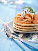 Blinis with Gravlax salmon