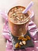 Cocoa, vanilla and almond milkshake