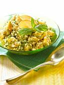 Quinoa and yellow fruit sweet tabbouleh