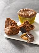 Chocolate-almond muffins