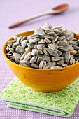 Bowl of sunflower seeds