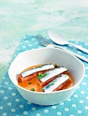 Sardines with tomatoes and Fino