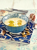 Ajo blanco, cold almond soup