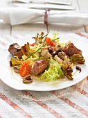 Squid, artichoke and Botifarra sausage salad