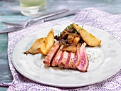 Spanish pork fillet with pears