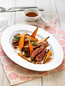Beef fillet with carrots and lemon
