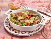 Vegetable macedoine with lamb