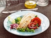 Grilled Sepia with salad