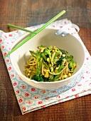 Spaghettis with broccolis