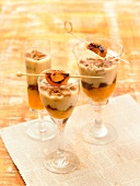 Turrón and apricot mousse