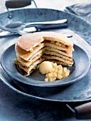 Pancake and pear layered cake