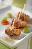 Duck breast and shrimp appetizers