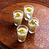 Mouhalabieh, Lebanese orange blossom and pistachio rice cream
