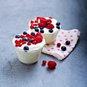 Crémet Nantais with summer fruit
