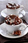 Knuspriges Schokoladensouffle
