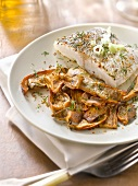 Roasted pike-perch with ceps