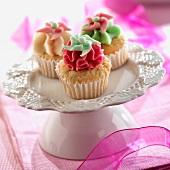 Flowered cupcakes