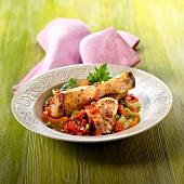 Chicken and bell pepper stew