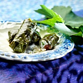 Stuffed vine leaves,Greece