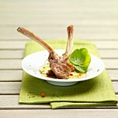 Lamb chops with hollandaise sauce,Holland