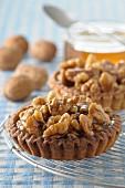 Walnut and honey tartlets