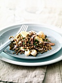 Lentil and haddock salad