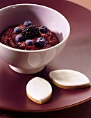 Blackberry and bilberry puree
