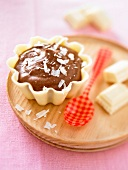 Nutella mousse in a white chocolate casing