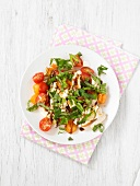 Cherry tomato,mozzarella and melon ball salad
