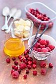 Cranberries,raspberries and vanilla