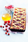 Summer fruit Linzertorte