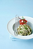 Tagliatelles with seafood tomato and dill salsa