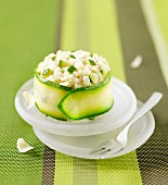 Risotto and zucchini timbale