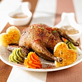 Roast pigeon with paprika