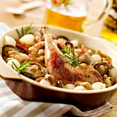 Pheasant with beer and mushrooms