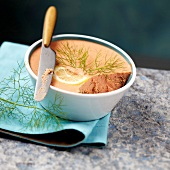 Pike-perch and dill terrine