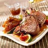 Spicy wild boar chops