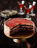 Mogador (chocolate and passion fruit cake)