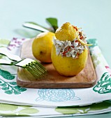 Stuffed lemons with stockfish brandade