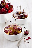 Cherry batter puddings