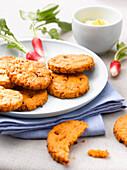 Chorizo and red pesto cookies