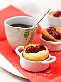 Raspberry mini clafoutis
