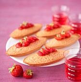 Strawberry mini Financiers