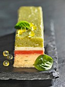 Fish terrine with lemon pearls