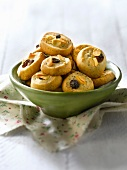 Poppyseed, raisin and thinly sliced almond shortbreads