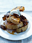Grilled pumpkin with pecans and spicy maple syrup