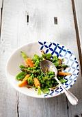 Plate of spring vegetables