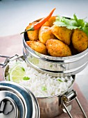 Fish croquettes with basmati rice